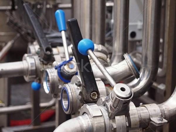 Borular Metal su sanayi endüstriyel makine Stok fotoğraf © hamik