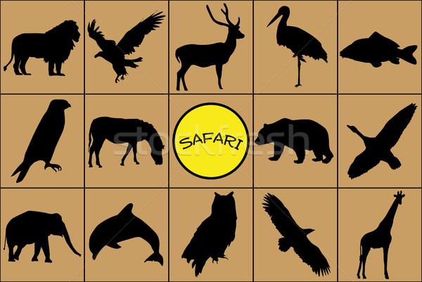 黒 シルエット 動物 野生動物 シンボル 自然 ストックフォト © hamik