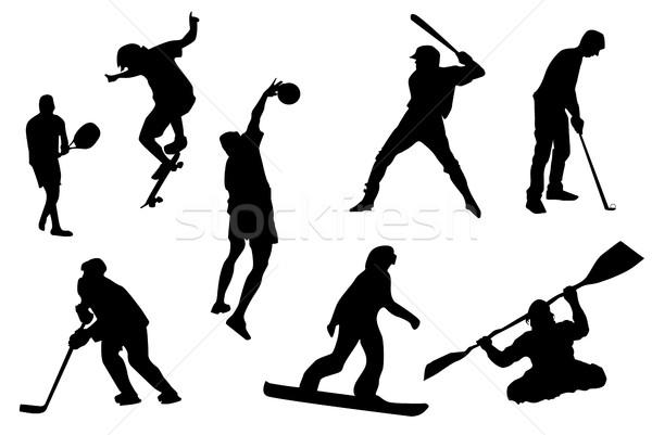 Sport icons Stock photo © hamik