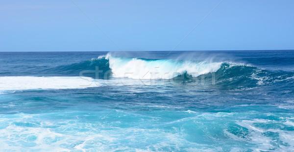 ビッグ 波 海 海 青 サーフィン ストックフォト © hamik
