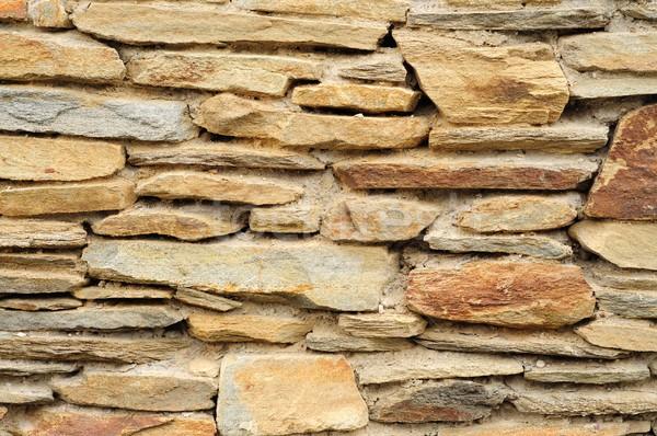 Mur widoku rock kamień brudne Zdjęcia stock © hamik