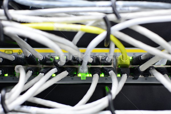 Switch with networking cables Stock photo © hamik