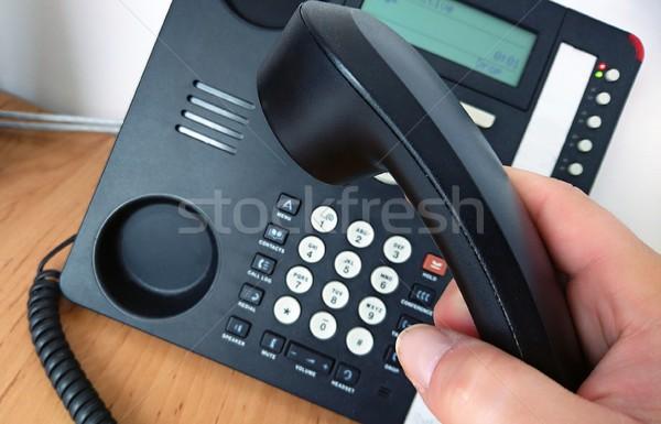 コール クローズアップ ピッキング 電話 ストックフォト © hamik