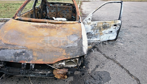 Burned out car Stock photo © hamik