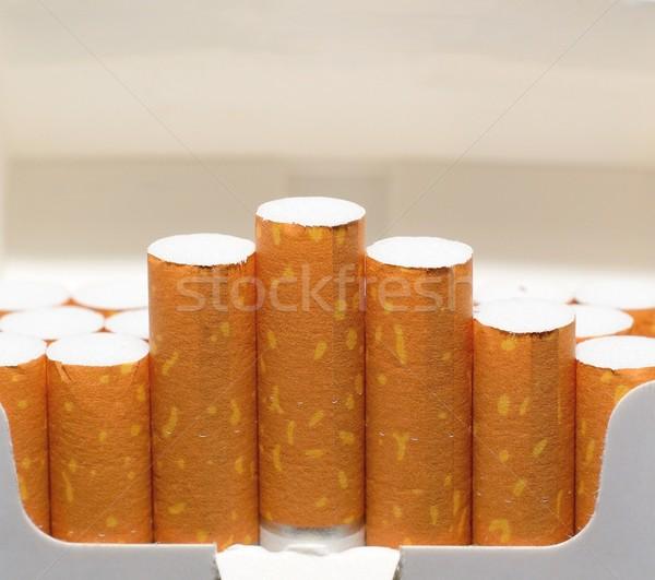 Cigarro empacotar abrir branco saúde pacote Foto stock © hamik