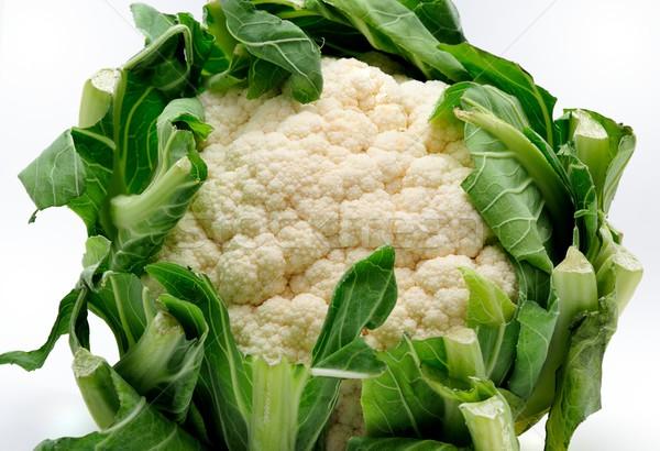 Friss karfiol egész étel természet háttér Stock fotó © hamik