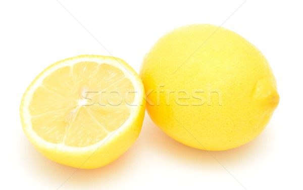 新鮮な レモン クローズアップ ショット 白 フルーツ ストックフォト © hamik