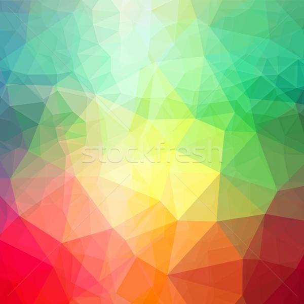 Colori abstract colore triangolo modelli basso Foto d'archivio © hamik