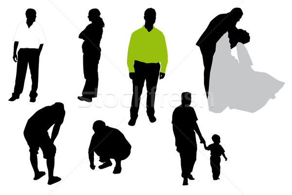 Silhouettes of people. Stock photo © hamik