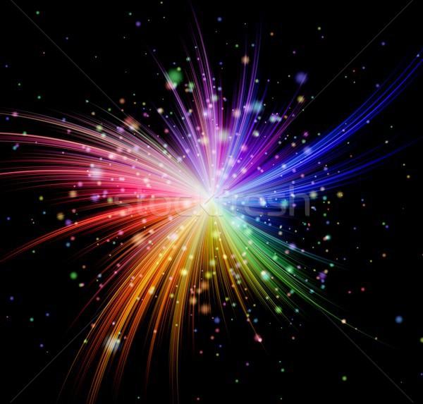 Colorato raggi esplosione nero luce sfondo Foto d'archivio © hamik