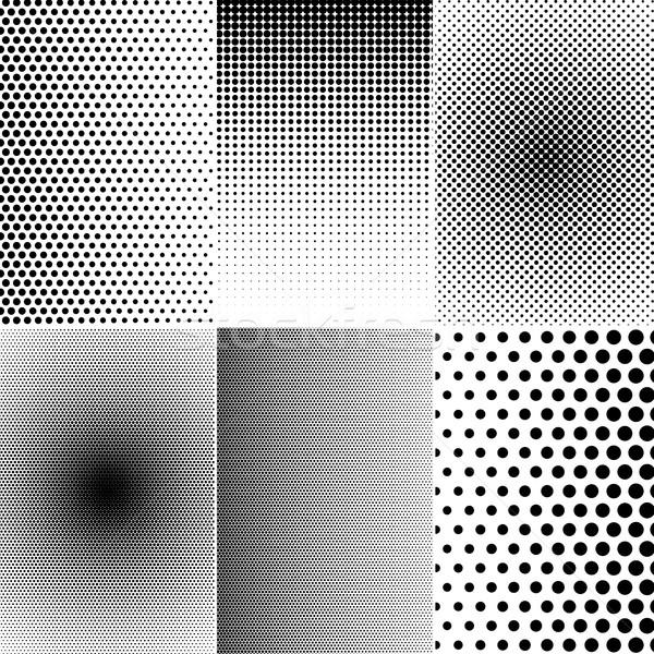 Ayarlamak yarım ton etkileri temel siyah beyaz renk Stok fotoğraf © hamik