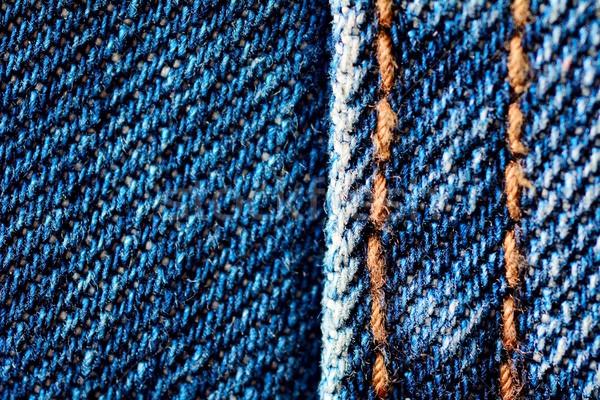 Farmernadrág textúra makró farmer szövet terv Stock fotó © hamik