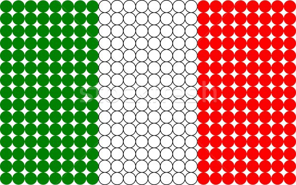Italiano pontilhado bandeira abstrato bandeira italiana pequeno Foto stock © hamik