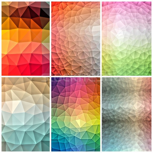 Color polygonal background set Stock photo © hamik