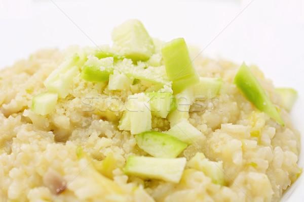 Abobrinha risotto italiano parmesão fresco Foto stock © hamik
