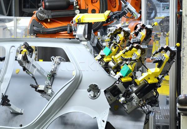 生産 新しい車 シート 金属 車 工場 ストックフォト © hamik