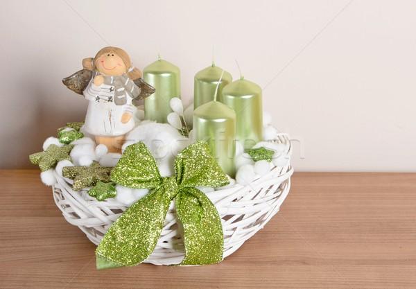 Natale decorazione interni home tavola verde Foto d'archivio © hamik