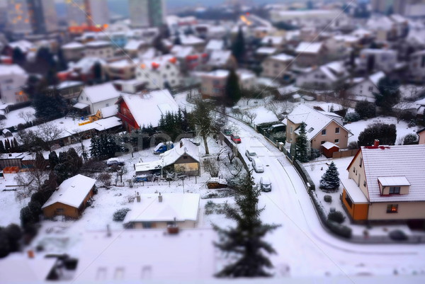 City shot with tilt shift effect Stock photo © hamik