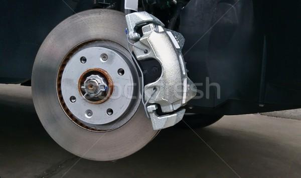 Voiture disque frein pneumatique remplacement Photo stock © hamik