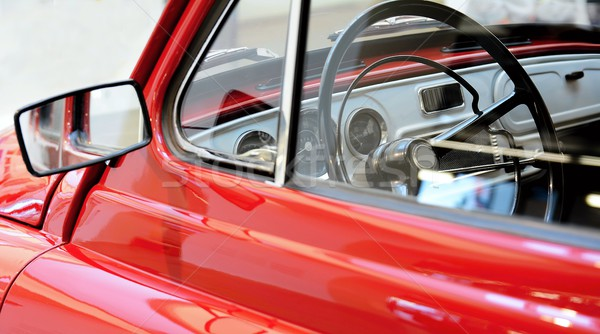 Vintage car interior view Stock photo © hamik