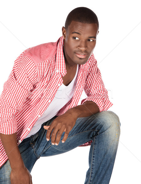 Handsome african man Stock photo © handmademedia