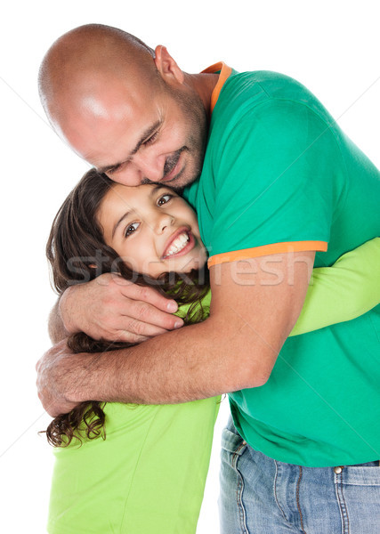 отец дочь довольно Cute кавказский девушки Сток-фото © handmademedia
