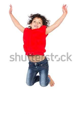 Adorable caucasian girl Stock photo © handmademedia