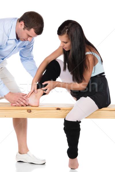 Injured modern dancer Stock photo © handmademedia