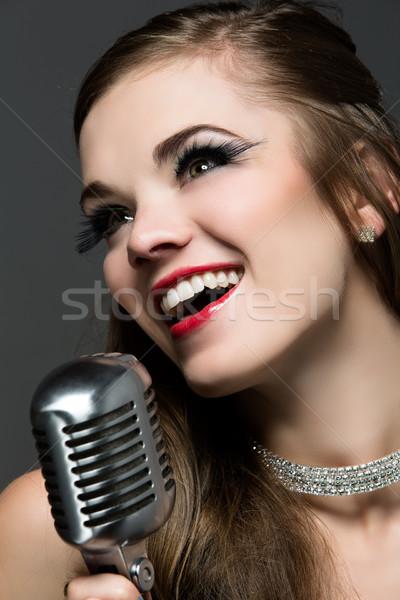 красивой женщины певицы кавказский девушки Сток-фото © handmademedia