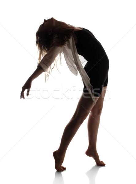 Beautiful female dancer Stock photo © handmademedia