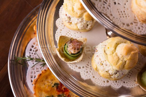 Savory pastry selection Stock photo © handmademedia