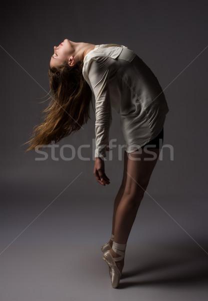 Gyönyörű női táncos karcsú fiatal modern Stock fotó © handmademedia
