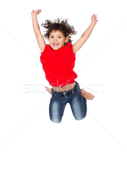 Stok fotoğraf: çok · güzel · kafkas · kız · küçük · çocuk · kıvırcık · saçlı