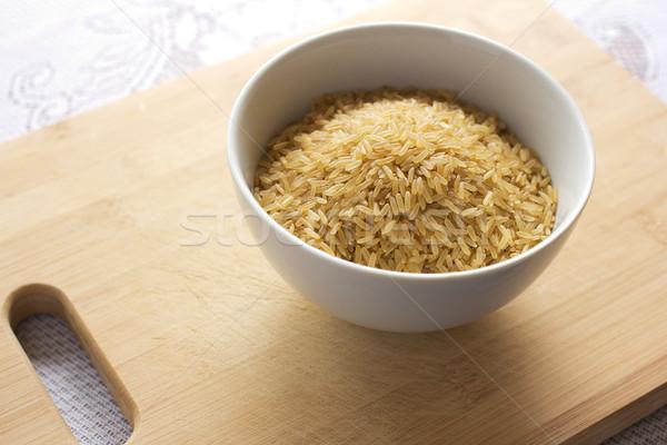 Uncooked brown rice Stock photo © handmademedia