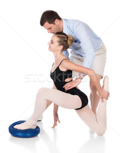 女性 バレエダンサー 美しい 孤立した 白 バレリーナ ストックフォト © handmademedia