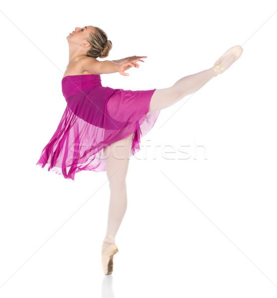 Femenino bailarín hermosa jóvenes clásico zapatos Foto stock © handmademedia