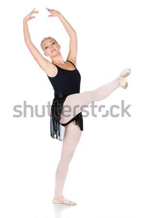 Kadın balerin güzel genç klasik ayakkabı Stok fotoğraf © handmademedia