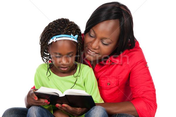 Kız anne çok güzel küçük Afrika çocuk Stok fotoğraf © handmademedia