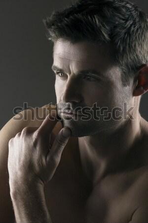 Kas kafkas adam portre çekici genç Stok fotoğraf © handmademedia