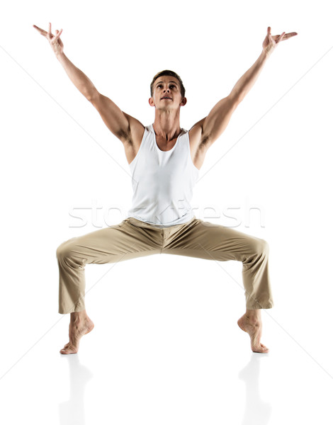 Caucasian male dancer Stock photo © handmademedia