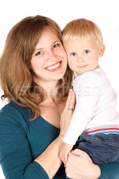Anne bebek güzel kafkas anne Stok fotoğraf © handmademedia