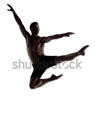 Yetişkin erkek dansçı siluet kas modern Stok fotoğraf © handmademedia
