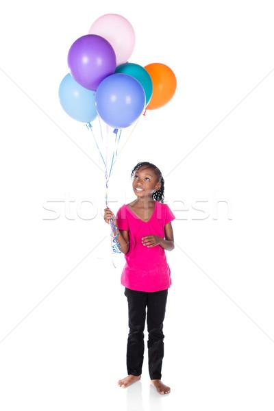 Sevimli Afrika kız çok güzel küçük çocuk Stok fotoğraf © handmademedia
