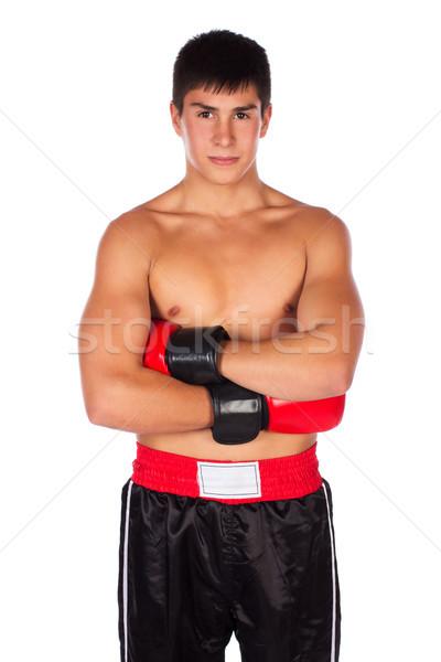 Giovani maschio bello indossare rosso Foto d'archivio © handmademedia
