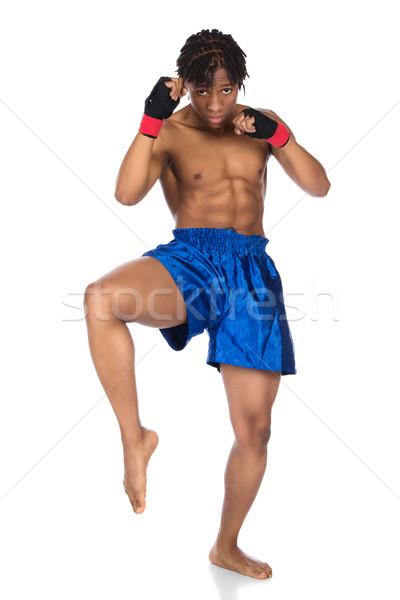 Erkek boks savaşçı genç kas Stok fotoğraf © handmademedia