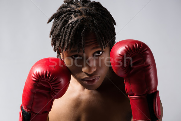 Stock photo: Male boxing fighter
