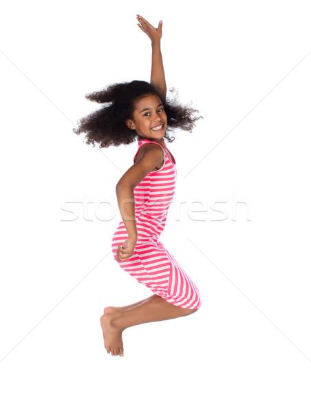 Stok fotoğraf: Sevimli · Afrika · kız · çok · güzel · çocuk · afro