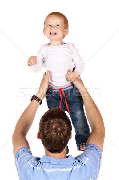 Dad with baby Stock photo © handmademedia