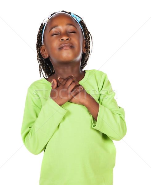 Cute Afryki dziewczyna godny podziwu mały dziecko Zdjęcia stock © handmademedia