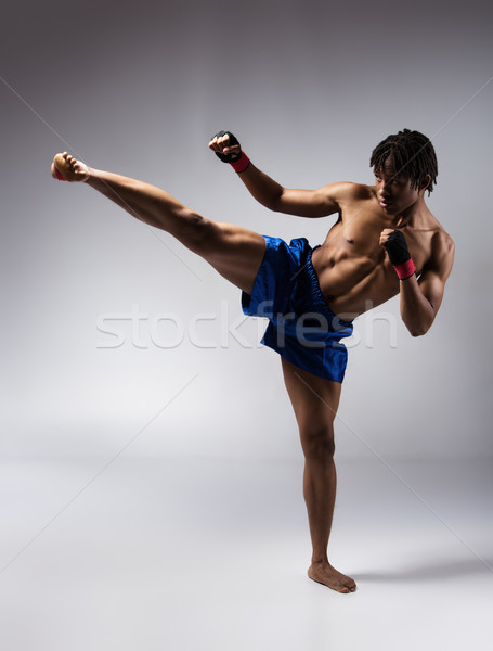 Male boxing fighter Stock photo © handmademedia
